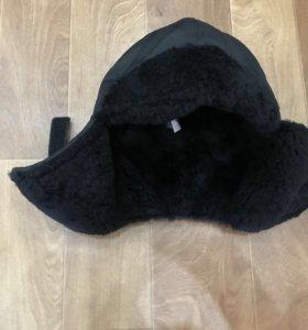 Новая зимняя шапка с натуральным мехом р60