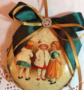 новогодние и елочные игрушки handmad