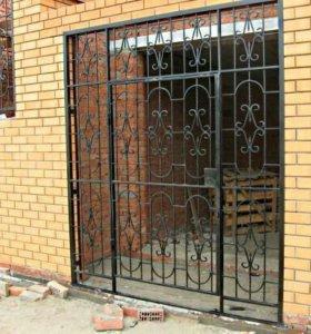 Металлическая конструкция (решетка дверная)