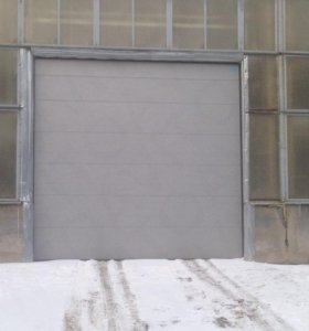 Ворота секционные, промышленные, панель S - гофр.