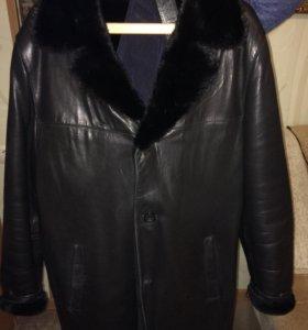 Кожаное пальто мужское