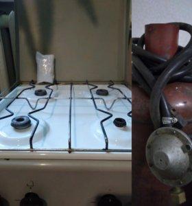 Газовая плита с баллоном