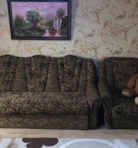 Продаю диван и кресло раскладные
