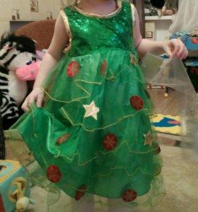 Платье елочки