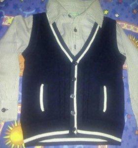 Рубашка обманка 104-116р