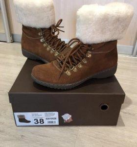 Ботинки зимние сапоги натуральные