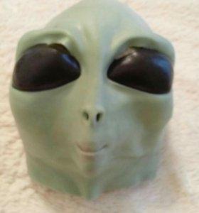 Силиконовая маска инопланетянин