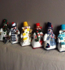 Снеговик ручной работы, handmade подарок,Новый год