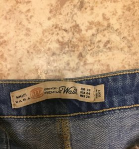 юбка джинсовая zara