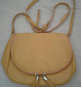 Желтая сумочка через плечо