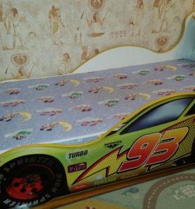 Кровать-машинка с матрасом