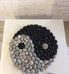 Коврики из морских камней
