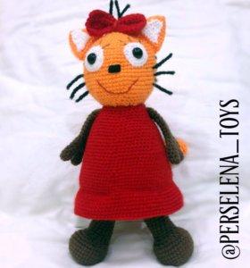 Мягкая игрушка кошка Карамелька