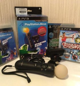 PlayStation Move + 2 игры