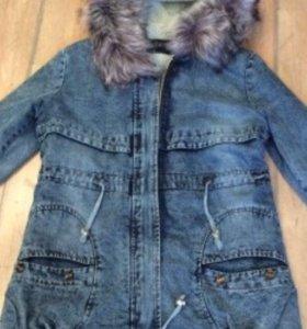 Куртка джинсовая утеплённая