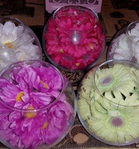 вазочки с цветами