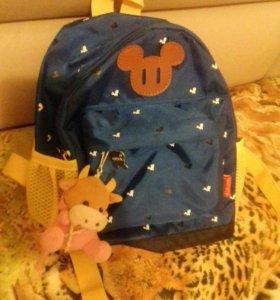 Новый детский рюкзак с анатомической спинкой