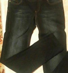 Брюки женские джинсовые,для будущей мамы.