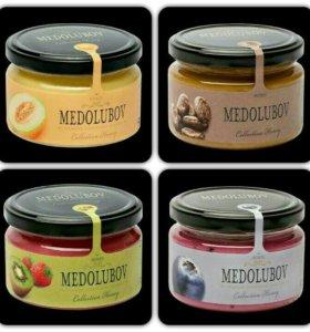 Крем-мед, медомикс медолюбов в ассортименте