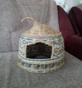 Плетеный домик для котиков или собачек