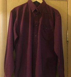 Мужская рубашка размер L, 100% хлопок,самовывоз