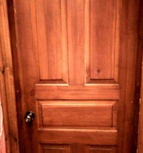 3 двери с коробкой и обналичкой. Сосна.