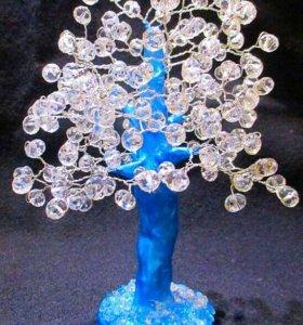 Хрустальное дерево с натуральным камнем