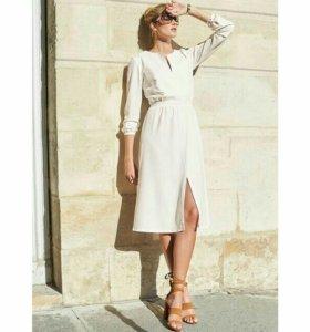 Белое элегантное платье