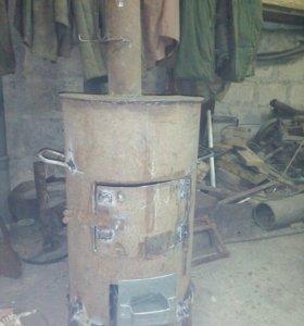 Печка буржуйка для гаража или дачи.
