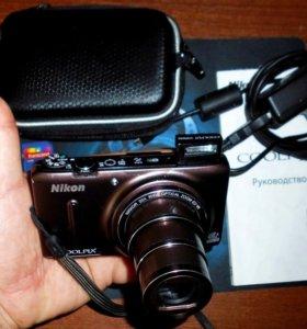 Nikon Coolpix s9500+чехол+2 батареи+8gb