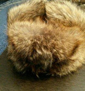 Шапка из меха полевого волка