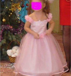 Платье бальное для новогоднего утренника