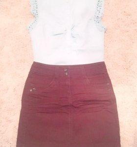 Юбка, блузка
