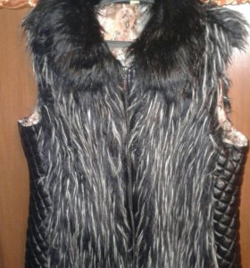 Меховая жилетка, 50 размер