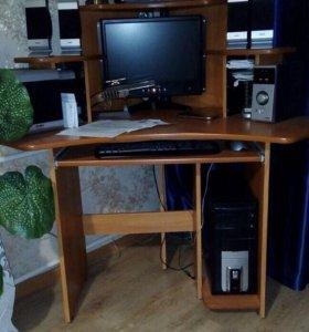 Компьютер принтер колонки стол