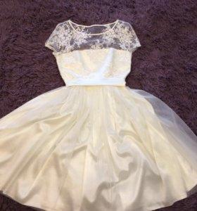 Короткое свадебное, выпускное платье 😍