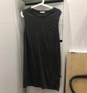 Платье темно серое
