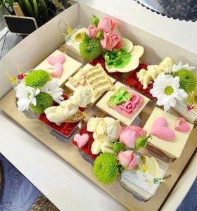 Десерты в стаканчиках, торты, домашняя выпечка