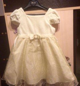 Платье нарядное на 2-3,5 года