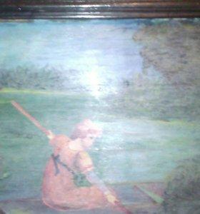 Картина на фанере рисована