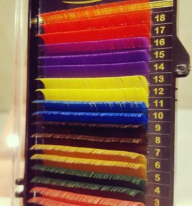 Цветные ресницы для наращивания 18 линий