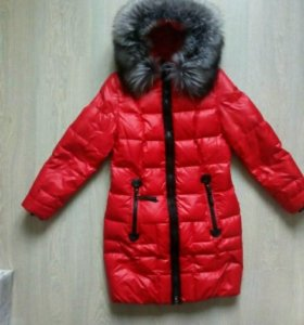 пуховое пальто 44 размер
