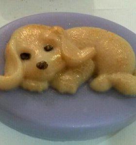 """Декоративное мыло ручной работы """"щенок"""""""