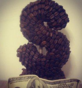 Подарок для мужчин,искусственное дерево из кофе