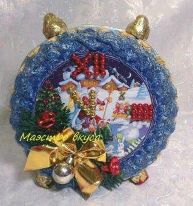 """Новогодний будильник из конфет """"Зимняя радость"""""""