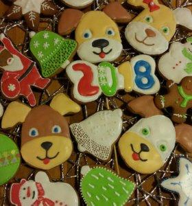 Имбирное печенье новогоднее
