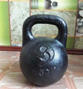 Чугунная гиря 32 кг