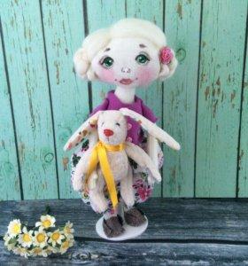 Куколка текстильная полностью из хлопка
