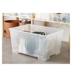 Пластиковый ящик (контейнер) ИКЕЯ 130 л.
