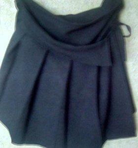 Школьная юбка с запахом